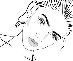 girl and outline image