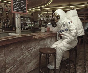 astronaut, bar, and tequila image
