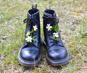 boots, flowers, and spring image