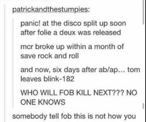 blink 182, fall out boy, and my chemical romance image