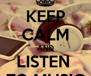 music and keep calm and image