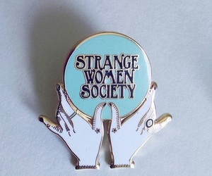 pins, woman, and strange image