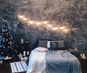 room, bedroom, and christmas image