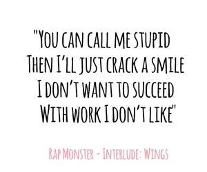 Lyrics, wings, and bts image