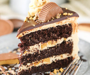 chocolate, almond, and cake image