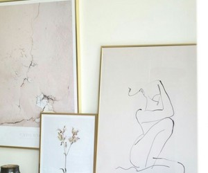 art, beige, and interior image