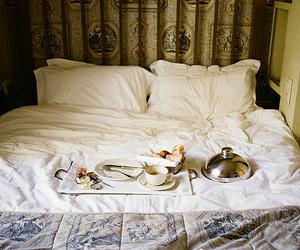 bed, vintage, and bedroom image