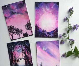 art, drawing, and purple image
