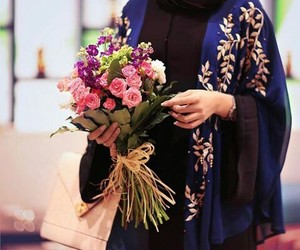 arab, bouquet, and flowers image
