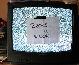 book, television, and read image
