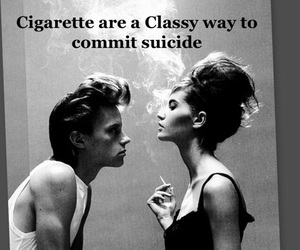 cigarette, classy, and depressed image