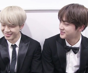 bts, park jimin, and jin image