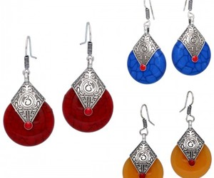 women's jewelry, imitation jewelry, and oxidised earrings image