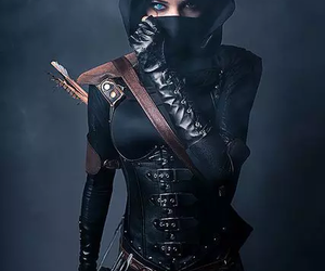 black, cosplay, and warrior image