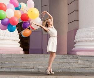 color, girls, and ballon image