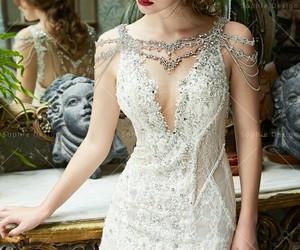 dress, beautiful, and glamour image