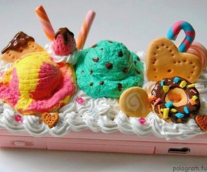 candy, candy cane, and ice cream image