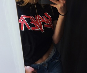 blond, jean, and rock image