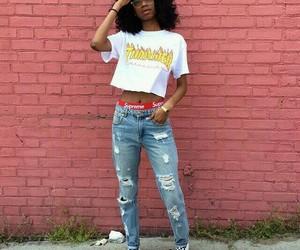 black girl, skater, and vans image