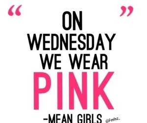 pink, wednesday, and meangirls image