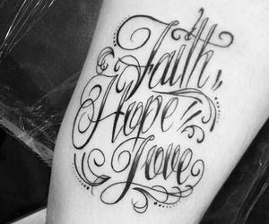faith, hope, and tatoo image