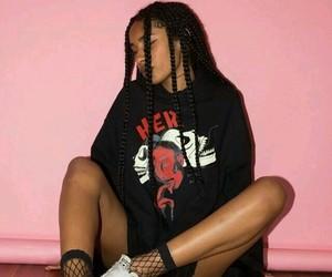 black girl, soft grunge, and braids image