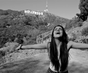 girl, hollywood, and black and white image