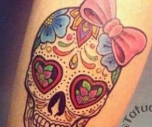 skull, tatoo, and tatuagens image