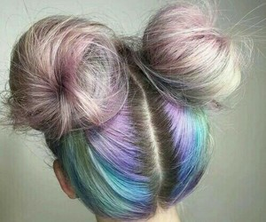 blue, buns, and cool image