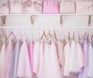 pink, girly, and bag image
