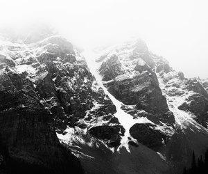 alpine, black & white, and canada image