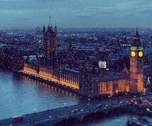 london and rain image