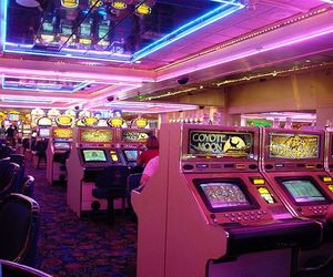 casino, neon, and pink image