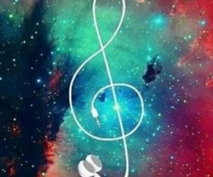 music and galaxy image