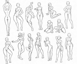 anatomy, drawing, and poses image