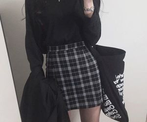 fashion, kfashion, and black image