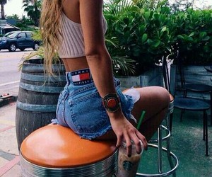 style, summer, and starbucks image