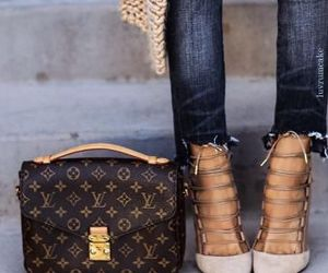 heels and Louis Vuitton image