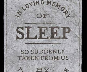 sleep, funny, and quotes image