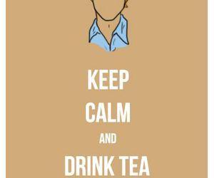 keep calm, simon baker, and tea image