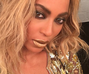 beyoncé, queen b, and gold image