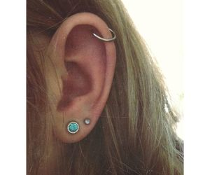 earrings, fashion, and helix image