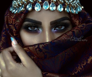 hijab and makeup image