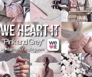 grey, pink, and pink and grey image