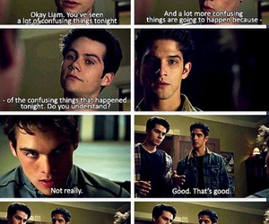 teen wolf, liam, and scott image