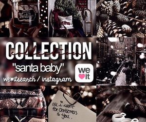 santa baby and instagram image
