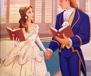 belle, disney, and prince image