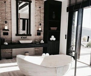 bathroom and bathtub image
