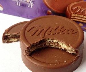 chocolate, sweet, and milka image