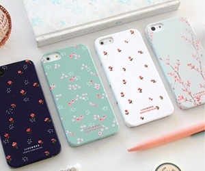 case, iphone, and flowers image